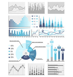 business data flowcharts visual info presentatio vector image