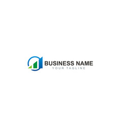 Business finance consulting company logo vector