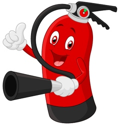 Cartoon Character of fire extinguisher giving thum vector image