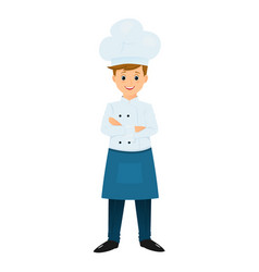 chef with arms crossed on chest vector image