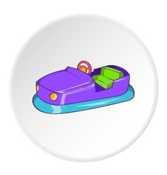 Children bumper machine icon cartoon style vector