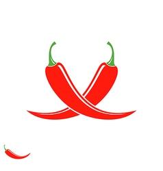 Chili pepper Logo vector image