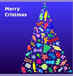 christmas and new year snowflakes postcard vector image