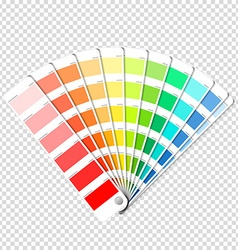 Color palette guide on transparent background vector