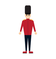 Colored nutcracker soldier toy icon vector
