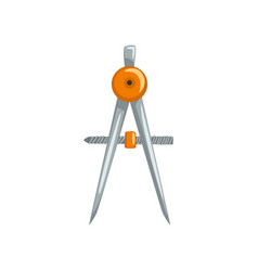 Compass tool measuring equipment vector