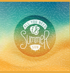 creative summer label vector image