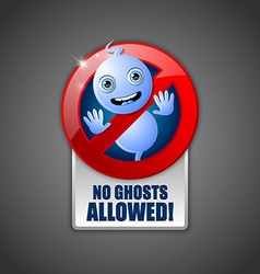 Cute ghost prohibition sign vector