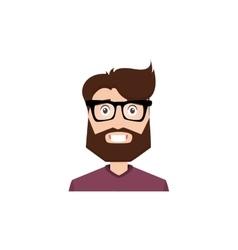 Cute man face vector image