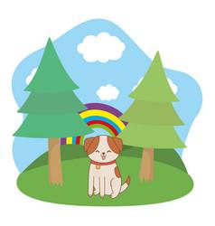 cute pet animal cartoon vector image