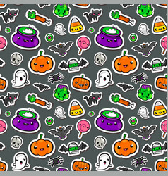 cute seamless halloween background vector image