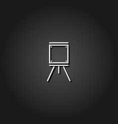 Easels icon flat vector