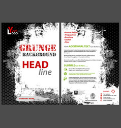 Flyer template with grunge background vector