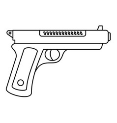 gangster pistol icon outline style vector image