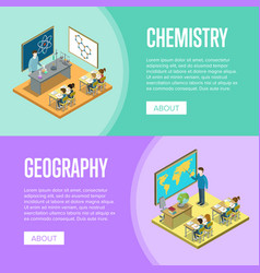 Geography and chemistry lessons at school vector