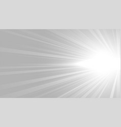 gray background with white glowing rays design vector image