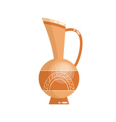 Greek vase in ancient style as template vector