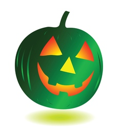 green pumpkin vector image