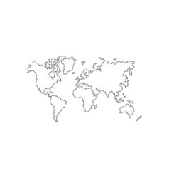 hand drawn world map vector image
