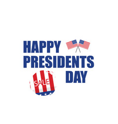 happy presidents day sale in flat design vector image
