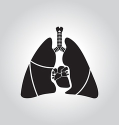 Heart lung symbol vector