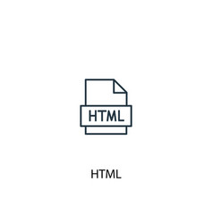 Html concept line icon simple element vector
