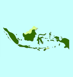 Indonesia map soft edge style vector
