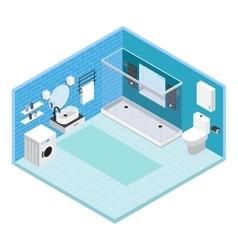 Interior Bathroom Composition vector image