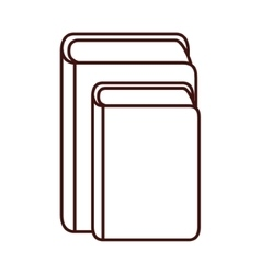 Isolated book library vector