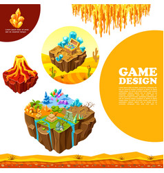 isometric game landscapes template vector image
