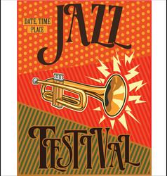 jazz retro vintage background vector image