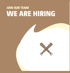 join our team busienss company baseball bat we vector image