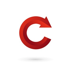 Letter C arrow logo icon design template elements vector image