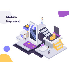 mobile payment isometric modern flat design vector image