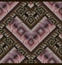 modern geometric greek key meanders seamless vector image