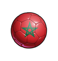 Moroccan flag football - soccer ball vector