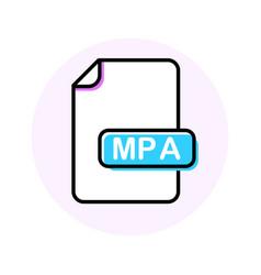 mpa file format extension color line icon vector image