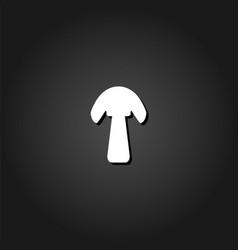 mushroom icon flat vector image