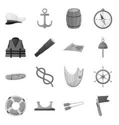 nautical and voyage logo vector image