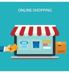 Online shopping concept flat design vector