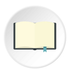 open book with bookmark icon circle vector image