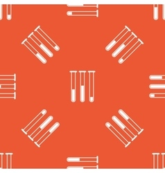 Orange test-tubes pattern vector