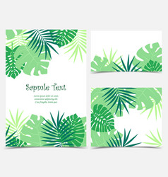 Palm leaves backgrounds vector