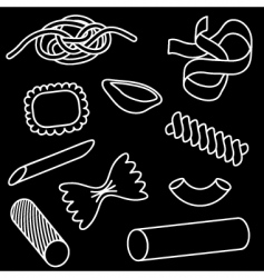 pasta icon set vector image