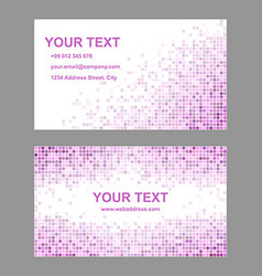 Pink business card template design vector