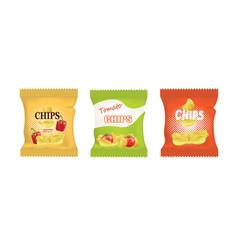 Potato chips bags vector