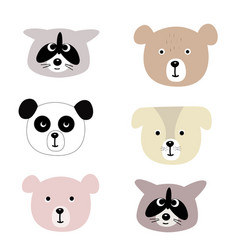 print with cute animals vector image