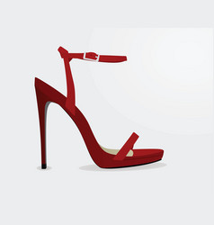 red sandal vector image
