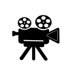 retro camcorder icon on white isolated background vector image