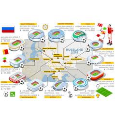 Russia stadiums map german vector